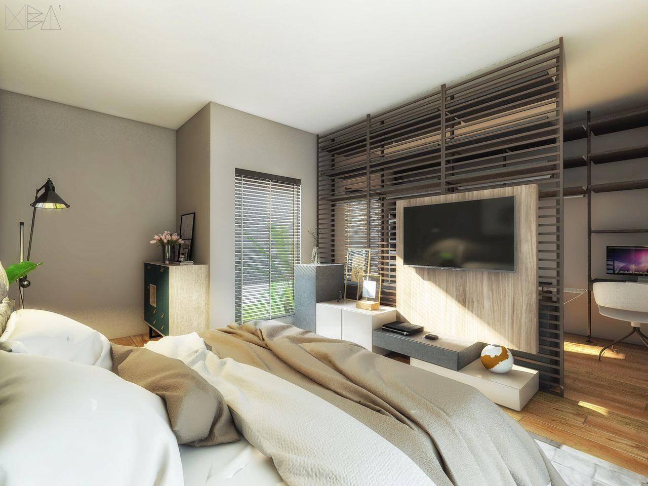 Quarto Do Casal Com Closet Aberto De A O De Ub Arquitetura  ~ Cadeiras Modernas Para Quarto E Quarto Com Closet E Suite
