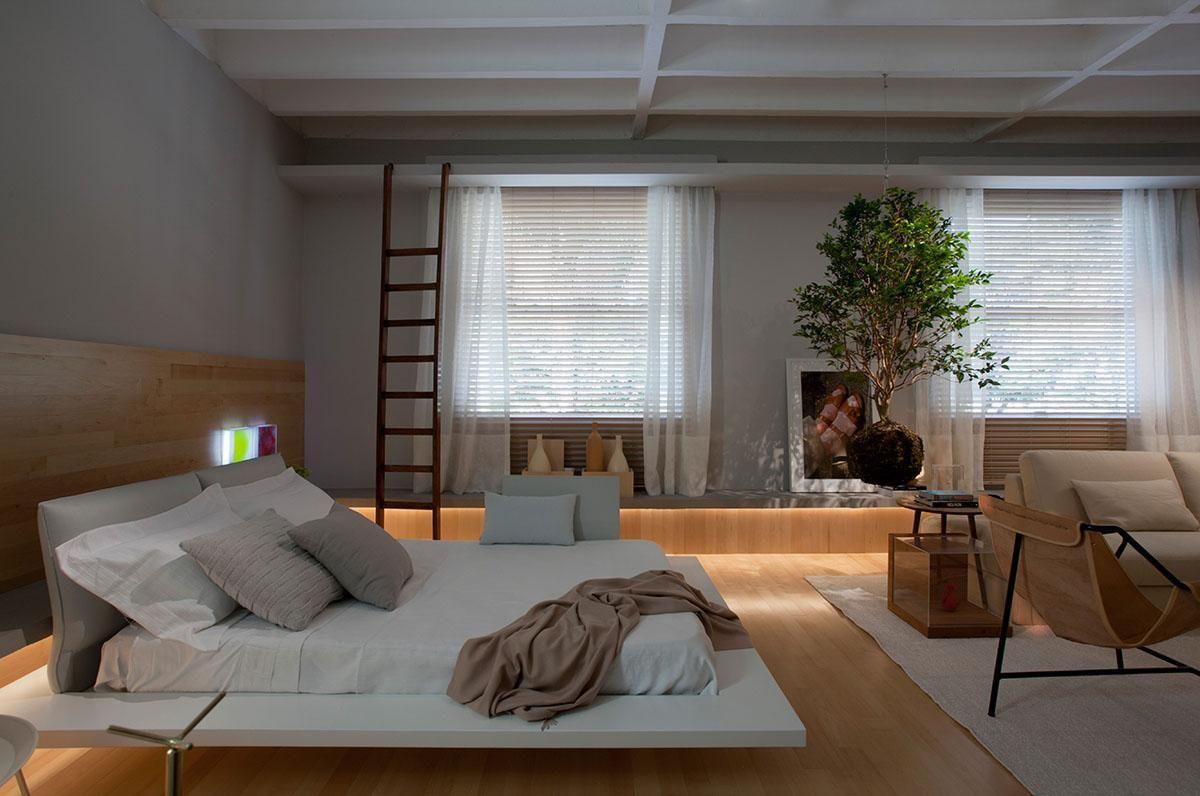 Suite Integrada Com A Sala De Nildo Jos 104729 No Viva Decora ~ Quarto Com Banheira Integrada E Decoração Japonesa Quarto